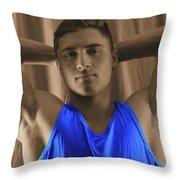 Daniel Blue Shirt Throw Pillow