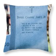 Daniel Chappie James Jr Throw Pillow