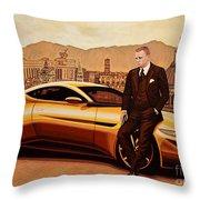 Daniel Craig As James Bond Throw Pillow