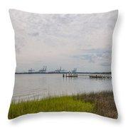 Daniel Island Commerce View Throw Pillow