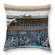 Daniel Webster In The Webster - Hayne Debate Throw Pillow