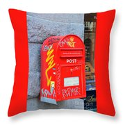 Danish Mailbox Throw Pillow