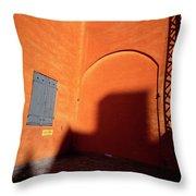 Danish Orange And Shadows  Copenhagen Denmark Throw Pillow