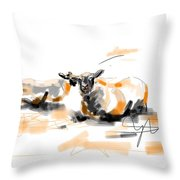 Danish Sheep Throw Pillow by Go Van Kampen