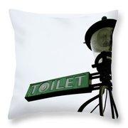 Danish Toilet Sign Throw Pillow