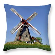 Danish Windmill Throw Pillow