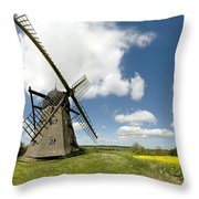 Danish Windmill Throw Pillow