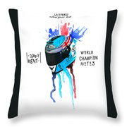 Danny Kent Infography  Throw Pillow