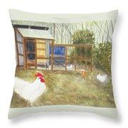 Dan's Chickens Throw Pillow