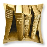 Dante God And Shakespeare ... Throw Pillow