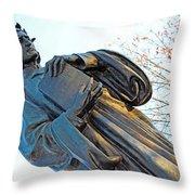 Dante In Meridian Hill Park Throw Pillow