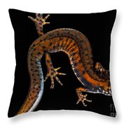 Danube Crested Newt Throw Pillow