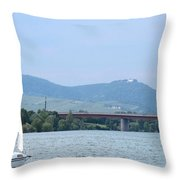 Danube River Sailor Throw Pillow