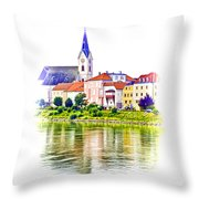 Danube Village Throw Pillow