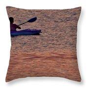 Danvers River Kayaker Throw Pillow