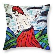 Danza De Mar Y Luna Throw Pillow