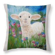 Flying Lamb Productions     Daphne Star In The Tall Grass Throw Pillow