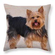 Dapper Dog Throw Pillow
