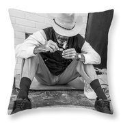 Dapper Man With Toothbrush Throw Pillow