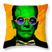Dapper Monster Throw Pillow