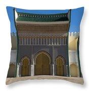 Dar-el-makhzen The Royal Palace Throw Pillow