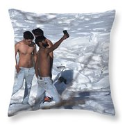 Dare To Bare Throw Pillow