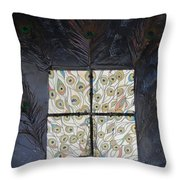 Dare To Be Different I Peacock Throw Pillow