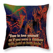 Dare To Love Yourself On National Selfie Day Throw Pillow