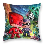 Funkos Daredevil And The Phantom In The Jungle Throw Pillow
