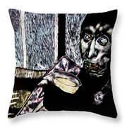 Darfu In Our Living Room Throw Pillow by Chester Elmore