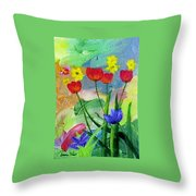 Daria's Flowers Throw Pillow