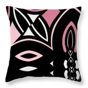 Daring Deco Iv Throw Pillow