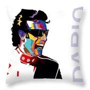 Dario Franchitti Pop Art Style Throw Pillow