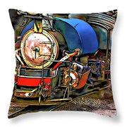 Darjeeling Toy Train Throw Pillow
