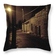 Dark Alley Throw Pillow