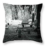 Dark As The Grave Throw Pillow