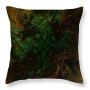 Dark Brambles Throw Pillow