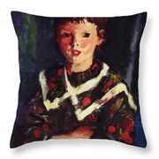 Dark Bridget Lavelle 1928 Throw Pillow