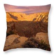 Dark Canyon Sunset Throw Pillow