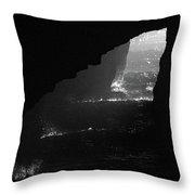 Dark Cave Throw Pillow