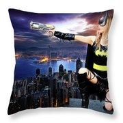 Dark City Of The Bat Throw Pillow
