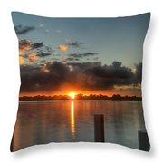 Dark Clouds Horizontal Throw Pillow