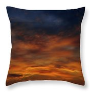 Dark Clouds Throw Pillow by Michal Boubin