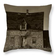 Dark Day On Lonely Street Throw Pillow