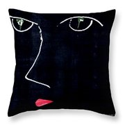 Dark Eyes Throw Pillow