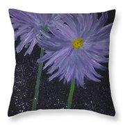 Dark Floral  Throw Pillow