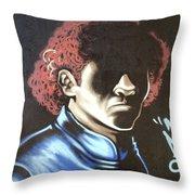 Dark Man Throw Pillow