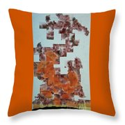 Dark Mist Arising Throw Pillow