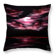 Dark Moon Arising Sold Throw Pillow