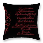 Dark Nights Bright Days Wedding Invitaion Throw Pillow
